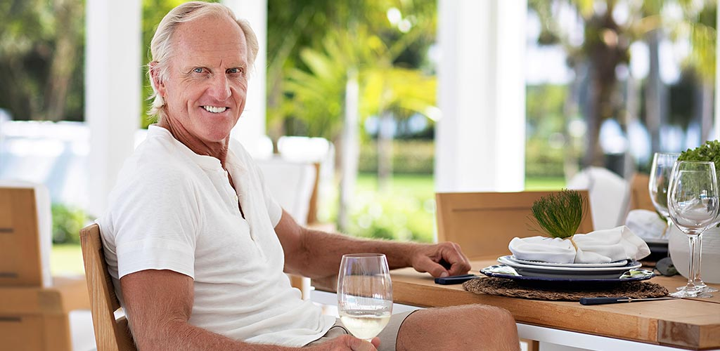 Picture of Greg Norman in Vineyard
